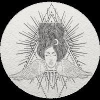 Celestial Twin Life Mentorship - Psychoshamanic Shamanic Woman Logo - Main